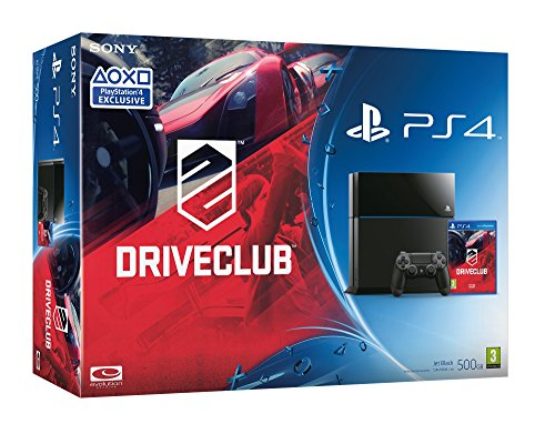 PlayStation 4 Console [Black] with Driveclub Play Station4 (PS4)